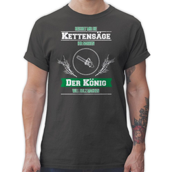 Shirtracer T-Shirt Reichet mir die Kettensäge - Sprüche Statement mit Spruch - Herren Premium T-Shirt Spruchshirt mit Sprüchen S