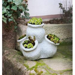 HomeLiving Blumentopf Granitoptik