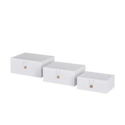 Basispreis* Aufbewahrungsboxen, 3er-Set ¦ weiß ¦ Papier ¦ Maße (cm): B: 33,2 H: 14,8 T: 25,2