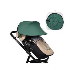 Cangaroo Kinderwagenschirm Universal Sonnenschutz, für den Kinderwagen Schutz vor Sonne Wind Staub grün