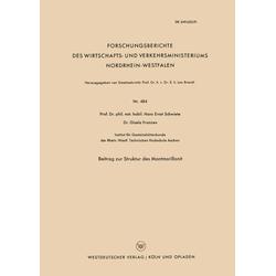 Beitrag zur Struktur des Montmorillonit als Buch von Hans-Ernst Schwiete