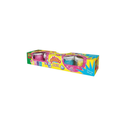 SES Creative Knete Glitter-Knete, 4x 90 g