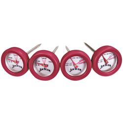 Jim Beam BBQ Grillthermometer, Set, 2 Thermometer für Steak und 2 Thermometer für Geflügel