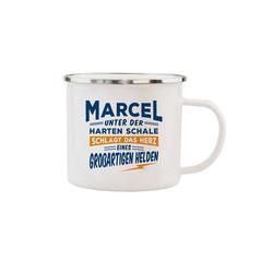 HTI-Living Becher Echter Kerl Emaille Becher Marcel, Emaille