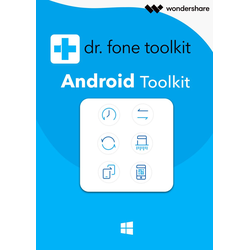 Wondershare Dr. Fone Toolkit für Android (1 Jahr/5 Geräte)