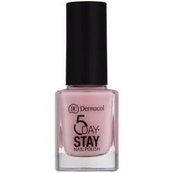 Dermacol 5 Day Stay langanhaltender Nagellack Farbton 07 Tea Rose 11 ml