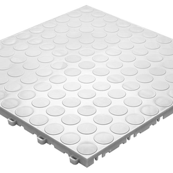 planeo Klickfliese Spot - Weiß-Alu -