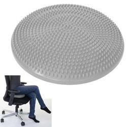 Balance-Sitzkissen Motala, Luftkissen Massage Sport, 33cm ~ grau