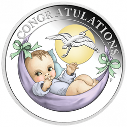 1/2 Unze Silber New Born Baby 2021 Proof-Qualität