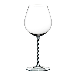 RIEDEL Glas Rotweinglas Fatto A Mano Old World Pinot Noir B&W Twisted, Kristallglas
