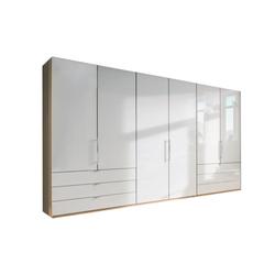 Wiemann Falttürenkleiderschrank Loft in weiß/Bianco Eiche-Optik