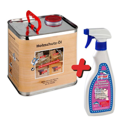 Holzschutzöl und Holzreiniger im Spar Set