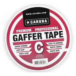 CARUBA Gaffer Tape 50 m x 5cm weiss
