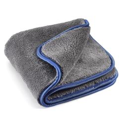 MEGA Clean Professional MEGA Flausch Plus Mikrofasertuch, Ideal für die Autopflege, 40 x 40 cm, 1200 g/qm, 1 Stück, Farbe: grau / blau