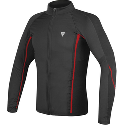 Dainese D-Core No-Wind Thermo Tee LS Jas, zwart-rood, XL 2XL
