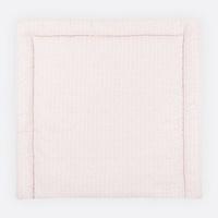 KraftKids Wickelauflage weiße Feder Muster auf Rosa, extra Weich (500 g/qm), mit antiallergenem Vlies gefüllt 60 cm x 70 cm
