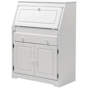 Sekretär aus Kiefernholz weiß lackiert Schreibtisch