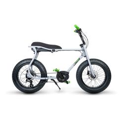 Ruff Cycles Retro Elektrische Fatbike Bosch Middenmotor Lil'Buddy 500Wh Grijs