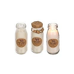 Duftkerze weiß in Milchflasche