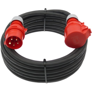 netbote24® CEE Starkstrom Verlängerungskabel 16A H07RN-F 5x2,5mm2 IP44 Außenbereich 5-50m (50m)
