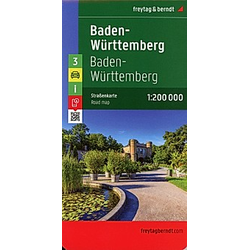 Freytag & Berndt Autokarte Baden-Württemberg; Baden-Wurttemberg; Bade-Wurtemberg; Baden-Vurtembergo - Buch