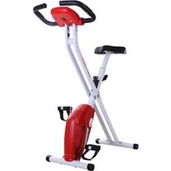 HOMCOM Fitnessfahrrad mit Display weiß/rot 83 x 43 x 110 cm (LxBxH)   Heimtrainer Ergometer Hometrainer fitnessbike