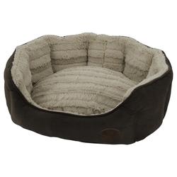 Nobby Hundebett oval Kara braun, Maße: 55 x 50 x 21 cm