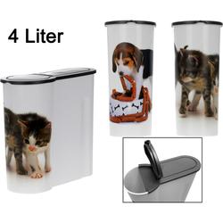 Futterdose für Trockenfutter - 4 Liter - Katzenfutterbox Hundefutterbox Tierfutterdose