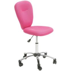 Bürostuhl höhenverstellbar mit Netzbezug pink