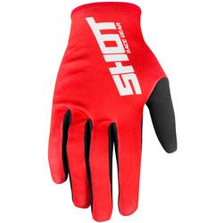 Shot Raw Motocross Handschuhe, rot, Größe XL
