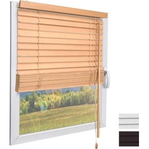 Sol Royal Holzjalousie SolDecor JH3 Jalousie aus Holz in Natur - 50x130 cm Tür- und Fensterjalousie Holz umweltschonend produziert - Jalousien Fenster