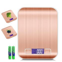Intirilife Küchenwaage Intirilife Digitale Küchenwaage Elektronische Waage Wasserdicht, 5kg Elektronische Digitale Küchenwaage rosa