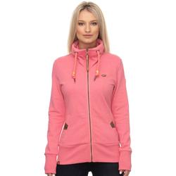 Ragwear Sweatjacke RYLIE ZIP, mit veganen Eisvogel-Metall-Logo-Besatz rosa Damen