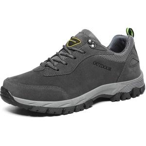 Lilichan Herren Casual Anti-Rutsch-Wanderschuhe Wasserdicht Leichte Atmungsaktive Arbeit Trekking-Schuhe (49 EU, Grau)