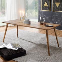 FINEBUY Esstisch SuVa4915_1, Esszimmertisch Sheesham rustikal Massiv-Holz Design Landhaus Esstisch Tisch für Esszimmer groß 6 - 8 Personen (FSC® Mix) 160 cm x 76 cm x 80 cm