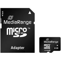MediaRange microSDHC 8GB Class 10 + SD-Adapter