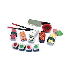 Melissa & Doug Spiellebensmittel Sushi-Set aus Holz, 24 Teile