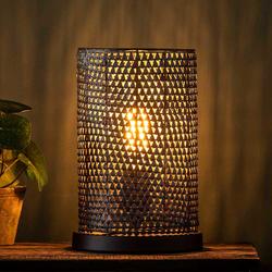 Tischlampe in Schwarzbraun 30 cm hoch