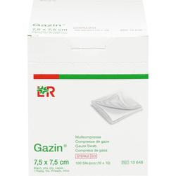 GAZIN Mullkomp.7,5x7,5 cm steril 8fach 100 St.