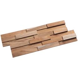 Rebel of Styles Verblender UltraWood Teak Firenze FSC 100%, BxL: 18x49,5 cm, 0,09 qm, (1-tlg) in Holzoptik beige