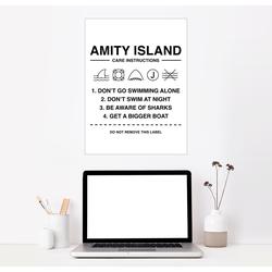 Posterlounge Wandbild, Amity Island - Pflegeanleitung 70 cm x 90 cm