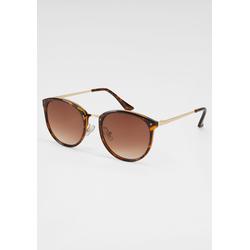 J.Jayz Sonnenbrille, Animal Look braun Damen Sonnenbrillen Accessoires Sonnenbrille