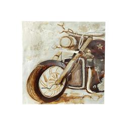 Motorrad Wandbild mit 3D Effekt 65 x 65 x 2,5 cm Biker Bild