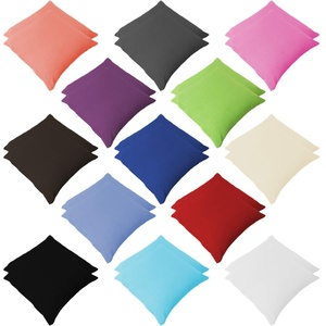 Style Heim 2er Pack Renforce Kissenbezüg Kissenhülle Kopfkissenbezug mit Reißverschluss 50x50 cm 100% Baumwolle Türkis