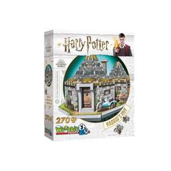 Wrebbit 3D-Puzzle 3D-Puzzle Hagrids Hütte - Harry Potter, 270 Teile, Puzzleteile