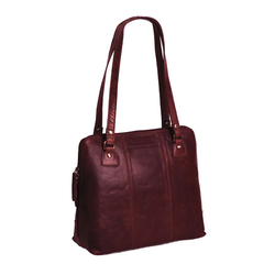 The Chesterfield Brand Elly Schultertasche Leder 30 cm rot