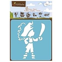 Mandarin 6 Schablonen Piraten
