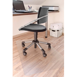 misento Bodenschutzmatte Bürostuhlmatte Stuhlunterlage Schutzmatte transparent 74 cm x 120 cm