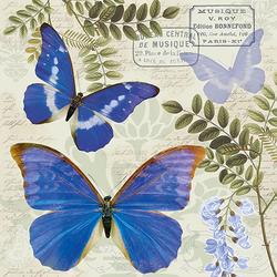 Ambiente Papierserviette Nostalgie Schmetterlinge, (20 St), 33 cm x 33 cm