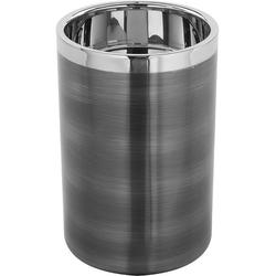 Fink Kerzenhalter VITO (1 Stück), aus Edelstahl, im modernen Design grau Ø 10 cm x 15 cm